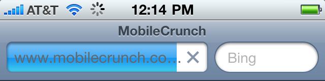 iPhone 4 Safari top bar